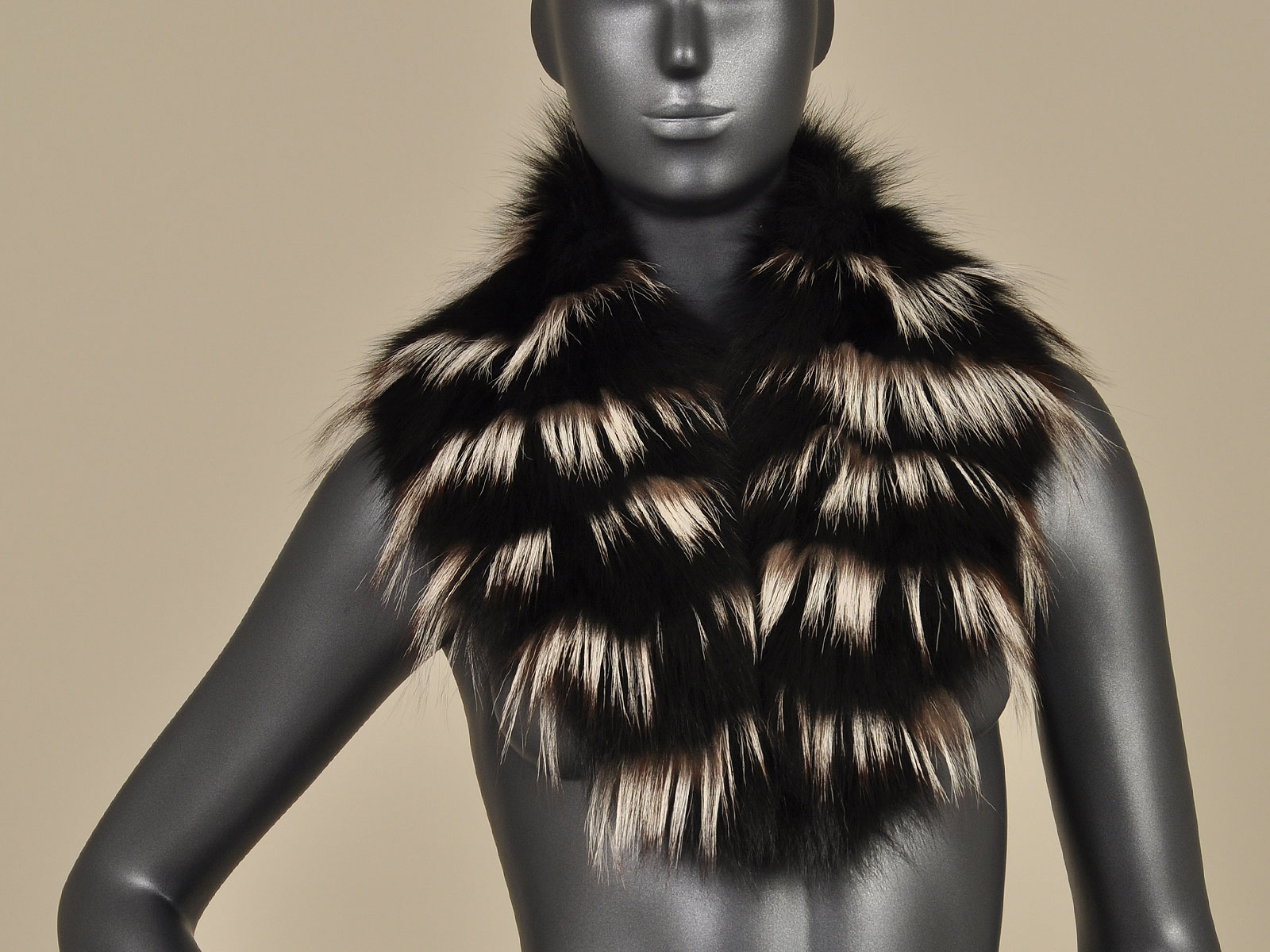 black fox silver fox trim fur collar