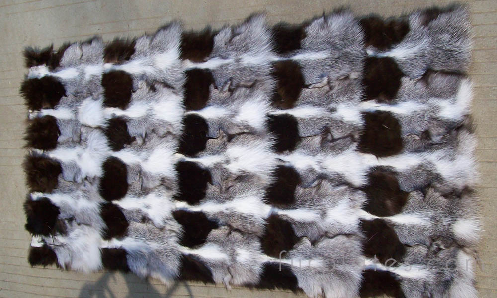 cross fox head fur plate