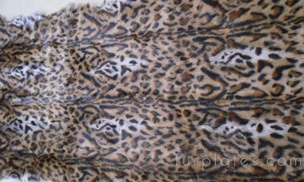 leopard cat print kid goat fur plate