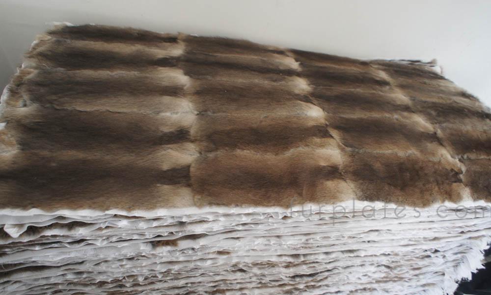 musquash muskrat back fur plate