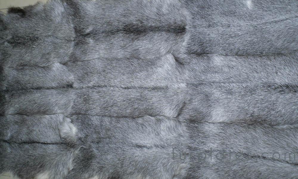 natural grey kid goat fur plate