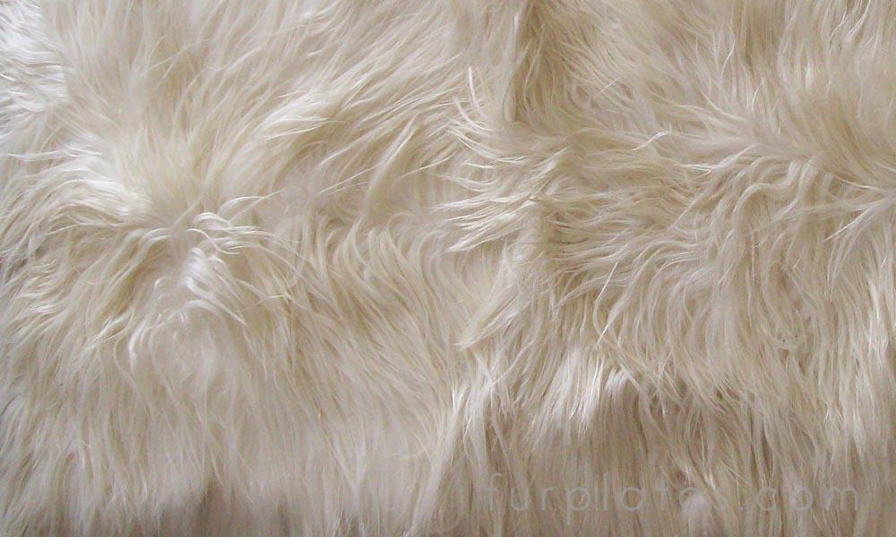 natural kidassia long hair goat fur plate
