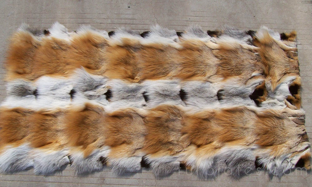 red fox head fur plate